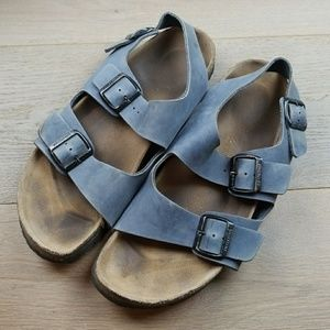 Birkenstock Shoes - Birkenstock men's blue sandals 44 men's 11